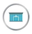 Bank icon cartoon Single building icon from the vector image