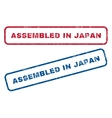 Assembled In Japan Rubber Stamps vector image