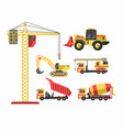 building and construction machinery equipment vector image