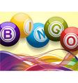 Bingo balls and waves background vector image