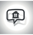Curved house message icon vector image