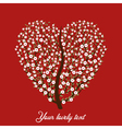 vintage love tree vector image