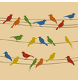 birds sit on wires vector image