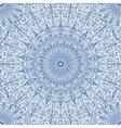 Navy Blue Floral Mandala Seamless Pattern vector image