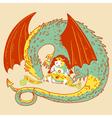 princess and dragon vector image