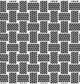 black white seamless textile pattern vector image