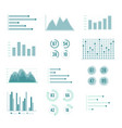 charts and graphs line set vector image