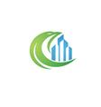 Eagle real estate logo template vector image