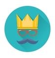 hipster party crown icon vector image
