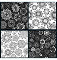 Set of four ornate floral seamless texture endless vector image