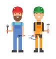 Set of professional engineering workers people vector image
