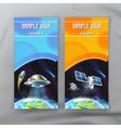 Set of space flyers brochure template design vector image