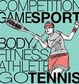 Woman playing tennis vector image