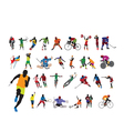 Silhouettes athlete vector image