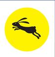 rabbit on moon concept vector image