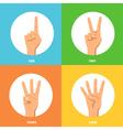 Hands 2x2 Design Concept Set vector image