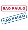 Sao Paulo Rubber Stamps vector image