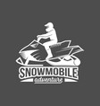 snowmobile sport badge vector image