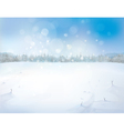 winter background forest vector image vector image