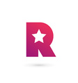 Letter R star logo icon design template elements vector image