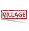 VILLAGE outlined stamp vector image