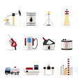 oil and petrol industry icons vector image vector image