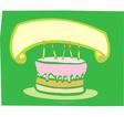 Birthday Cake Banner vector image vector image