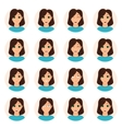 Set of woman emotions icons vector image