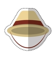 hat tourist isolated icon vector image