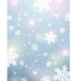 Light background with bokeh and blurred snowflakes vector image