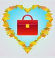 red handbag autumn bags vector image
