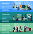 Airport People Flat Banners vector image