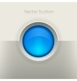 Glossy empty button vector image vector image