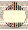 Sticker with a picture of African elements vector image vector image