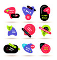 set of modern flat sale stickers badge for online vector image
