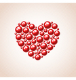 heart of bead for Valentines day vector image