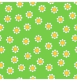 Seamless camomile pattern vector image
