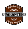 Satisfaction Guaranteed Quality label vector image