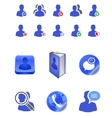 social member icons vector image vector image