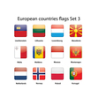 European countries flags set 3 vector image vector image