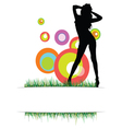 beauty girl on the grass vector image