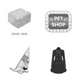 business trade textiles and other monochrome vector image