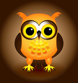 Cartoon orange owl vector image