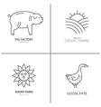 Farming Logos vector image