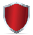 Red glossy steel shields vector image