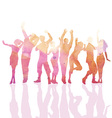 Watercolour party people vector image