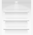 Empty book shelves on the wall vector image vector image