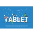 Tablet pc concept vector image vector image