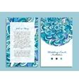 Wedding card template marine design vector image