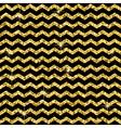 Pattern in zigzag Classic chevron gold glitter vector image